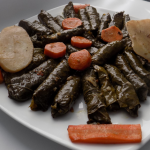 Lebanese Stuffed Vegetarian Grape Leaves (Warak Enab)