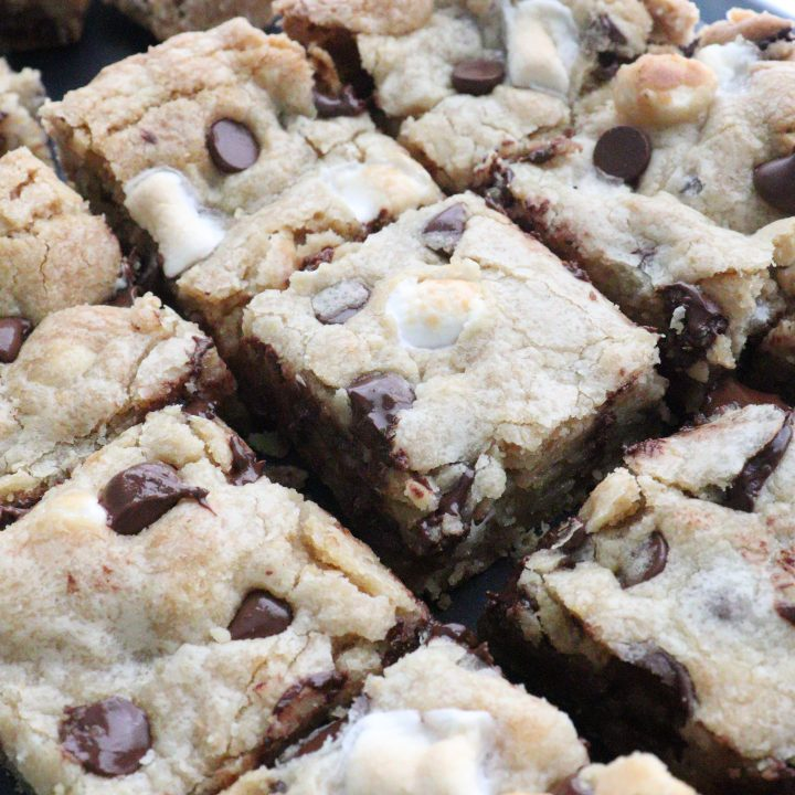 Chewy Smore Cookie Bars